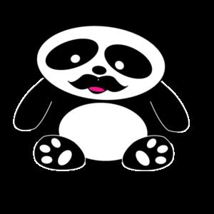 bajuszos panda